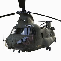 3d model of ch-47 chinook