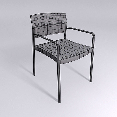 3d chair - materials model - CHAIR -  Mental Ray Materials... by David_Turner