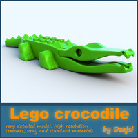 3d model lego crocodile