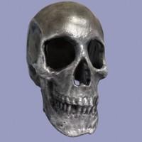 obj human skull