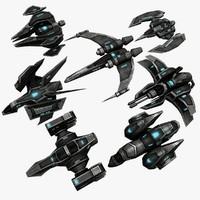 3d 7 ships model