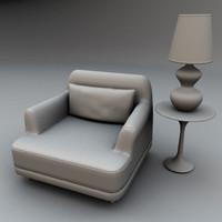 armchair lamp c4d