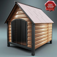 dog kennel 3d model