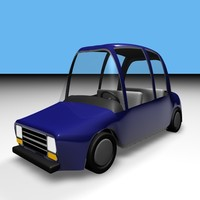 cartoon sedan 3d model