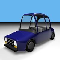 cartoon sedan 3d model