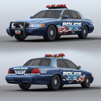car police supervisor 3ds