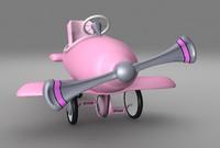 pedal plane toy 3d 3ds