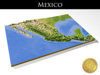 Mexico, High resolution 3D relief maps