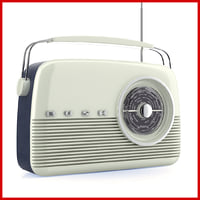 retro radio portable bush 3d model
