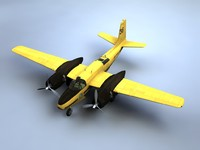 a-26 invader bomber dragon obj