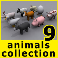 3d model farm animals