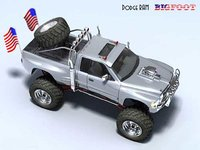 3dsmax dodge ram bigfoot big foot