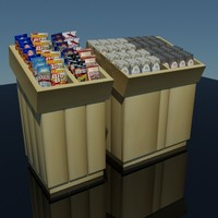 grab chips cookie display 3d max
