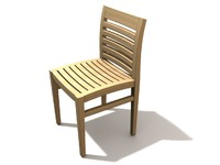 wood chair obj