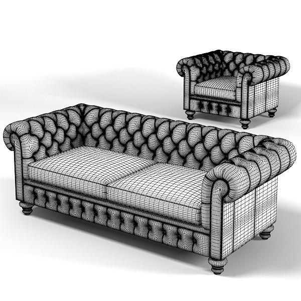 Max chesterfield traditional tufted chesterfield for Traditional tufted leather sofa