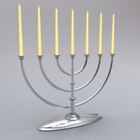 menorah jewish ceremonial 3d model