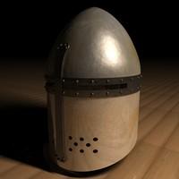 sugar loaf crusader helmet 3d model
