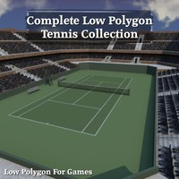 Complete Low Polygon Tennis Collection