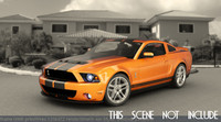 3d model mustang shelby gt
