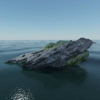 3d model of small islands ocean water