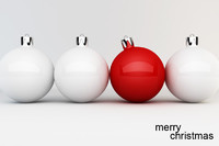 christmas balls card 3d max