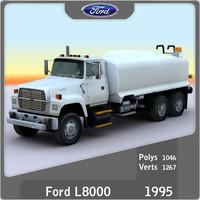 3d 1995 l8000 water tank model