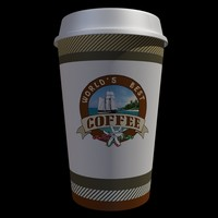 coffee cup generic 3d model