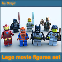3d lego movie characters model