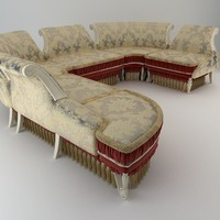sofa antique 3d model