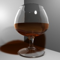 brandy glass 3d c4d