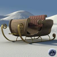 santa sleigh max