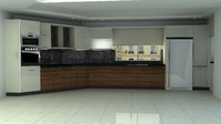 3d model of kitchen