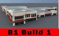 B1 COMPLETE 1 - Retail Building - 3ds max 2010 Mental Ray