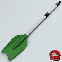 3d model boat paddle v3