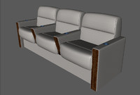 3d model divan business aircraft