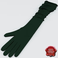 Long Silk Gloves