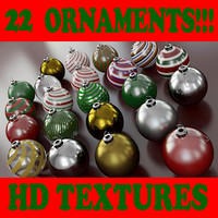 Ornament Collection B - 22 Ornaments Collection - 3ds max 2010 - Mental Ray