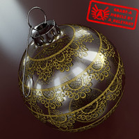 christmas tree ornament 2010 3d model