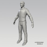 3d business man model