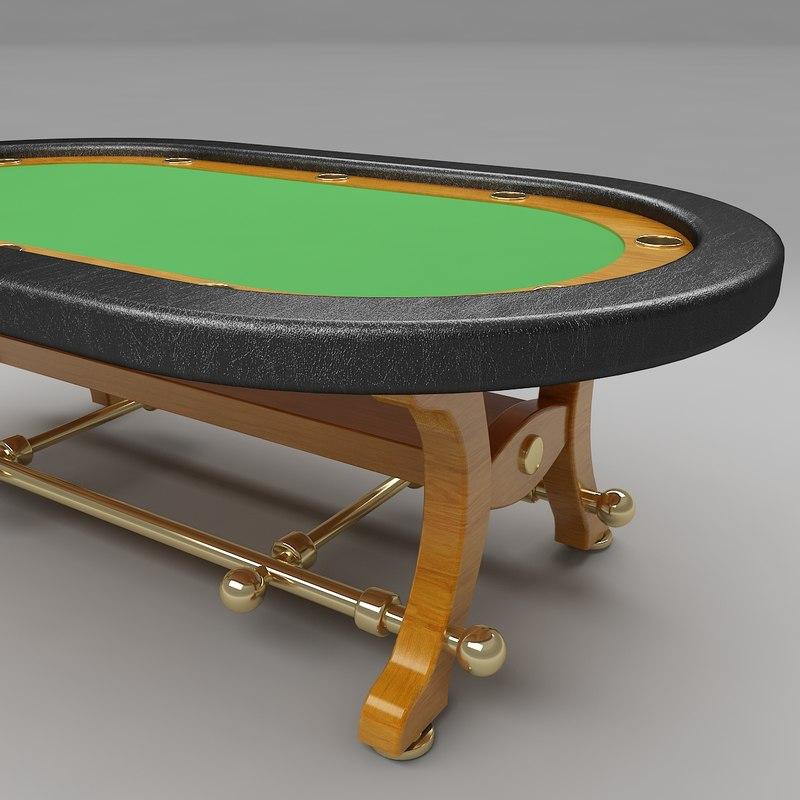 Poker table c4d