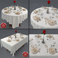 restaurant tables 3d model