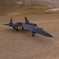 3d model sr-71 aircraft