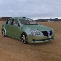 vehicle family sedan car 3d model