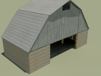 barn farm building 3d model