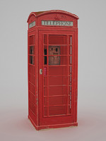 British Telephone Box - Low Poly