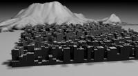 3d city terrain