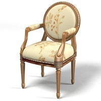 classic dining chair 3d model