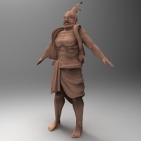 warrior sculpture asia 3d model