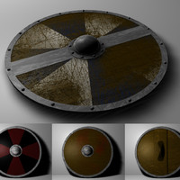 3d c4d viking shield