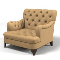Modern traditional lounge cub armchair